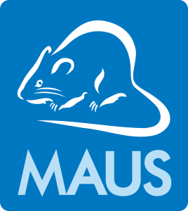 MAUS_Logo PMS300 NEW_transparent